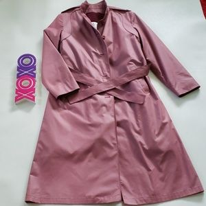 LONDON FOG maincoats dusty pink trench coat